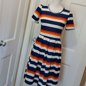 MILLY Fit and Flare striped dress - L